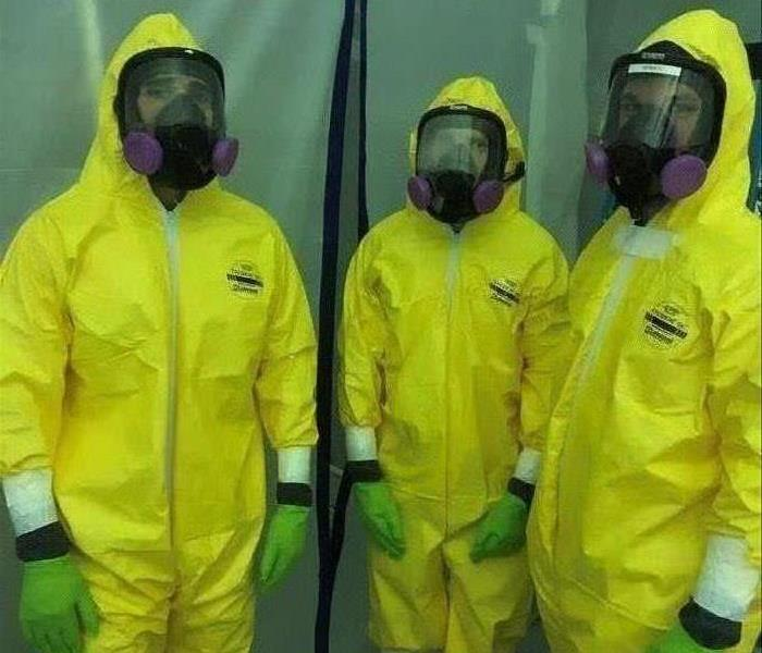 bio-hazard team suited up