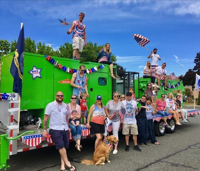SERVPRO of Bellevue West Marches in the 4th of July Parade